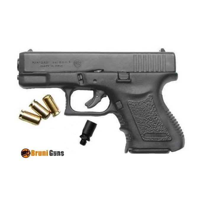 Glock mini gap arme de d fense cal 9mm p a k prix pas for Arme defense maison