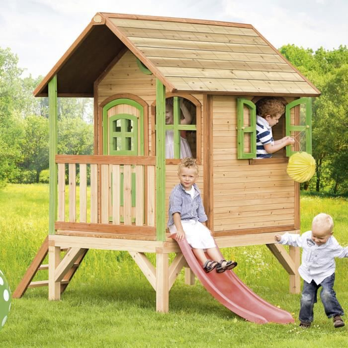 maison de jeu tom en bois pour enfants axi achat vente maisonnette ext rieure cdiscount. Black Bedroom Furniture Sets. Home Design Ideas