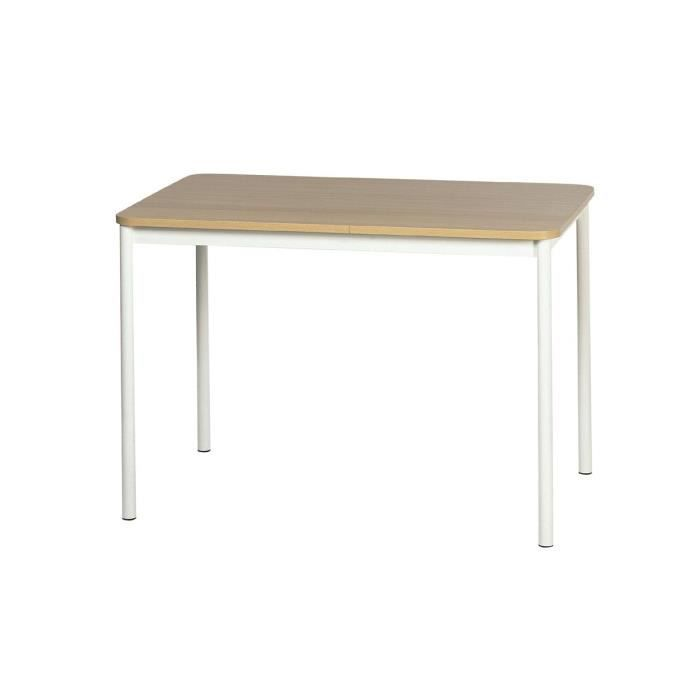 table de cuisine basic 110 x 70 cm ep75 imitation inox