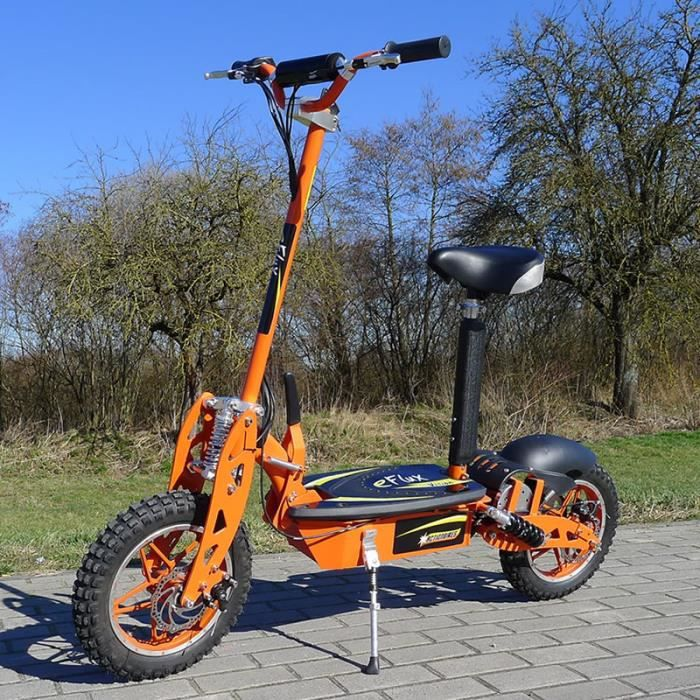 trottinette lectrique 1000w e flux vision orange achat vente trottinette electrique. Black Bedroom Furniture Sets. Home Design Ideas