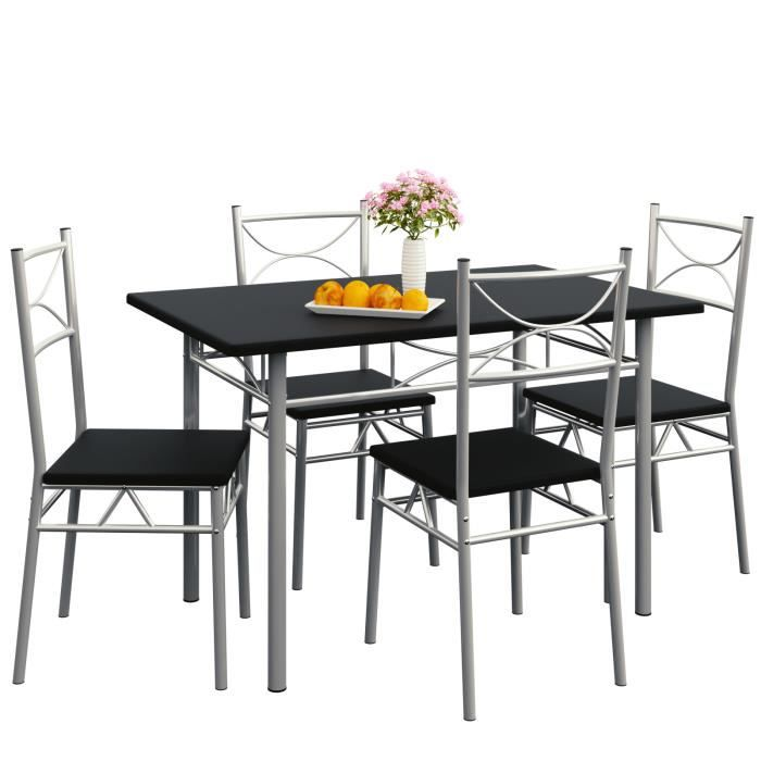 ensemble tables et chaises paul set 5 pcs achat. Black Bedroom Furniture Sets. Home Design Ideas