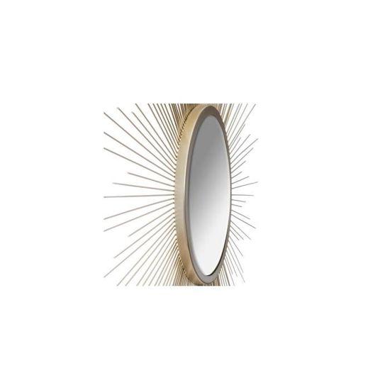 UNIVERS-DECOR Miroir d/éco Soleil Tube dor/é 99 cm Atmosphera