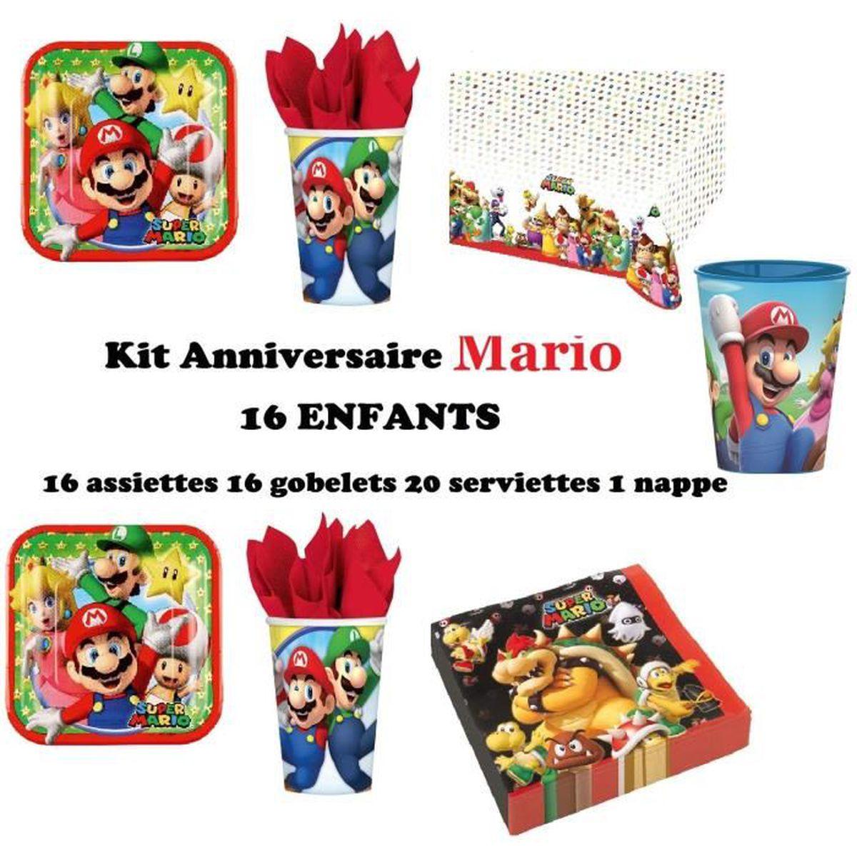 Deco Mario Anniversaire Achat Vente Pas Cher