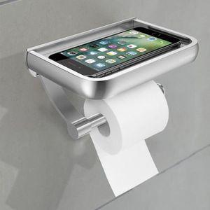 SERVITEUR WC Porte-rouleau de papier mural en aluminium résista