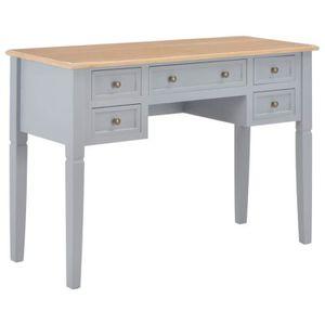 BUREAU  Bureau table meuble travail informatique gris 109,