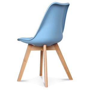 CHAISE Chaise Design Scandinave Bleu Adriatic Scandy