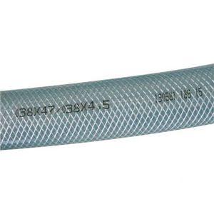 TUYAU SPIRALE ACIER EN PVC TRANSPARENT QUALITE ALIMENTAIRE Ø 12-60 MM