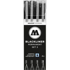 MARQUEUR MOLOTOW Stylo feutre fin Blackliner Set 2 4 pc(s)