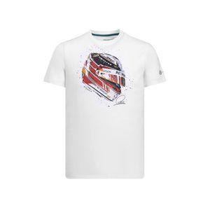 T-SHIRT T-shirt MERCEDES AMG Casque Lewis Hamilton blanc p
