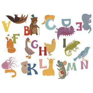 STICKERS NAF NAF Jeu De 2 Stickers Animals Alphabet Décorat