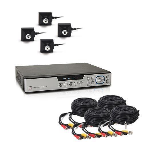 Kit vidéosurveillance 1 To avec 4 caméras cachées type vis