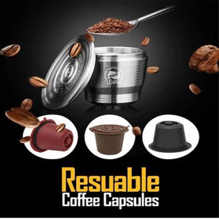 Capsule réutilisable de filtre d'acier inoxydable de capsule de café favorable à l'environnement WYE90916007_pld
