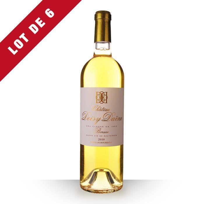 6X Château Doisy-Daëne 2010 Blanc 75cl AOC Sauternes - Vin Blanc