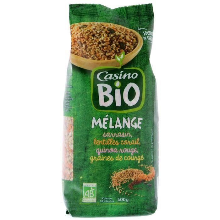 CASINO Mélange sarrasin lentille quinoa graine de courge Bio - 400G