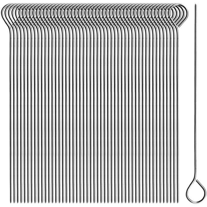 Ustensiles pour barbecue com-four® 50x Aiguilles de roulade en acier inoxydable - brochettes de 11 cm de long - brochett 6432