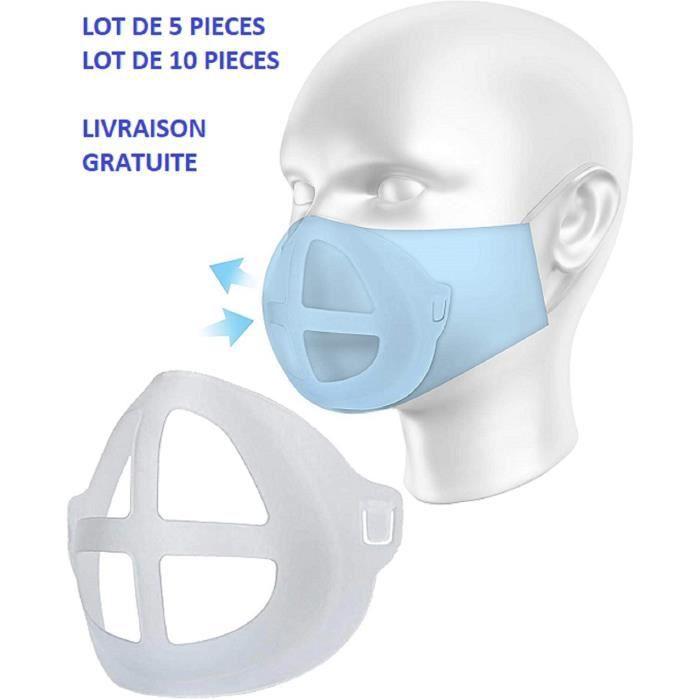 Support Masque AÉRATEUR aide à la respiration lot de 5 pièces .