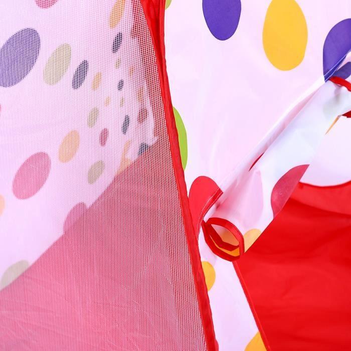Jidelstore® set Tente Pop Up avec Tunnel piscine de jeux shoot balle PR bébé Enfants rouge 97×83×95cm - XY FR -JID