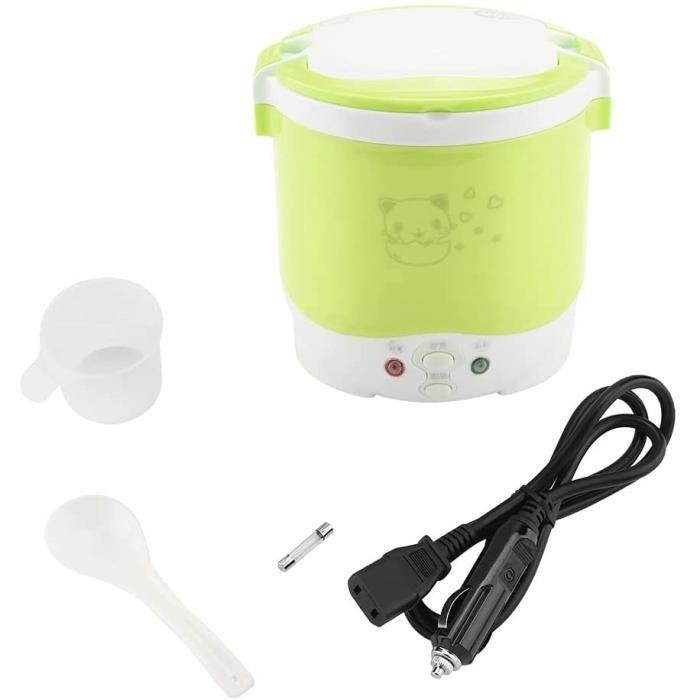 Mijoteuse, cuiseur à riz électrique 24V 130W 1L cuiseur vapeur électrique portable facile à nettoyer pour l'extérieur pour le b[234]