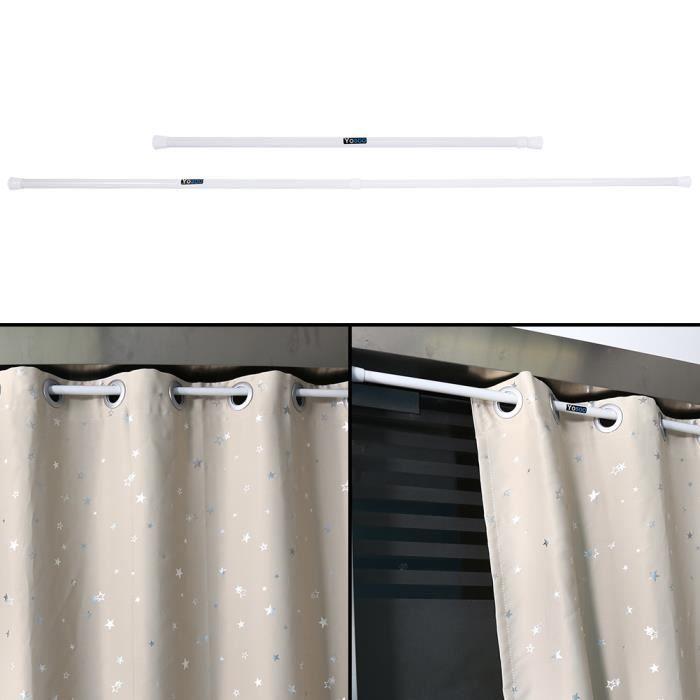 Rail télescopique de rail de rideau de fenêtre de douche de salle de bains de ressort télescopique extensible 85 ~ 150 cm