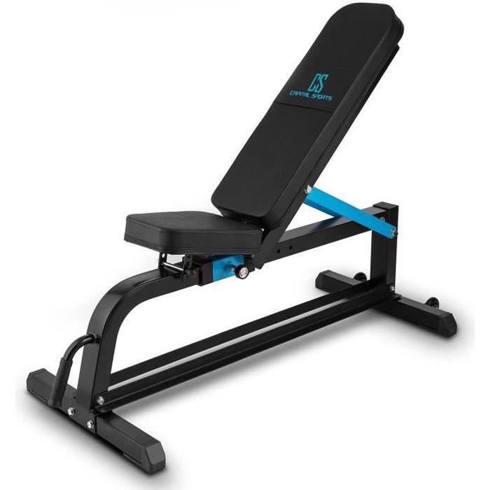 Capital Sports Adjustar Banc d'entraînement réglable noir métal 300 kg