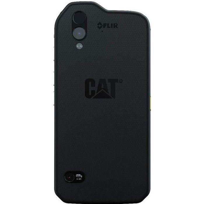 Téléphone Caterpillar Cat S61, couleur noire, 64 Go ROM, 4 Go RAM, écran 5,2-, Dual SIM. Caméra 16 MP, système Android Oreo.