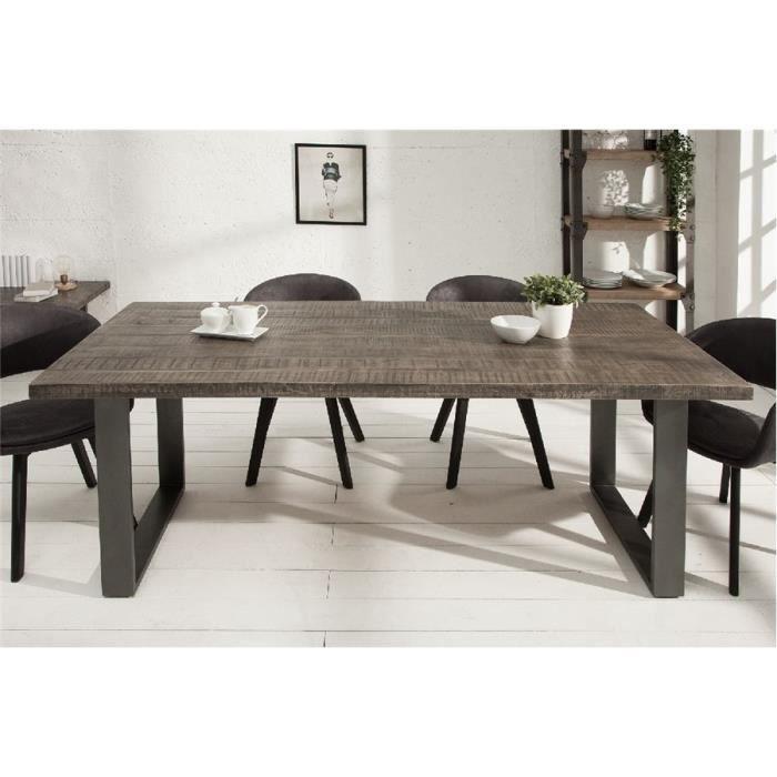 Table à manger design AZURE III - Gris - 160