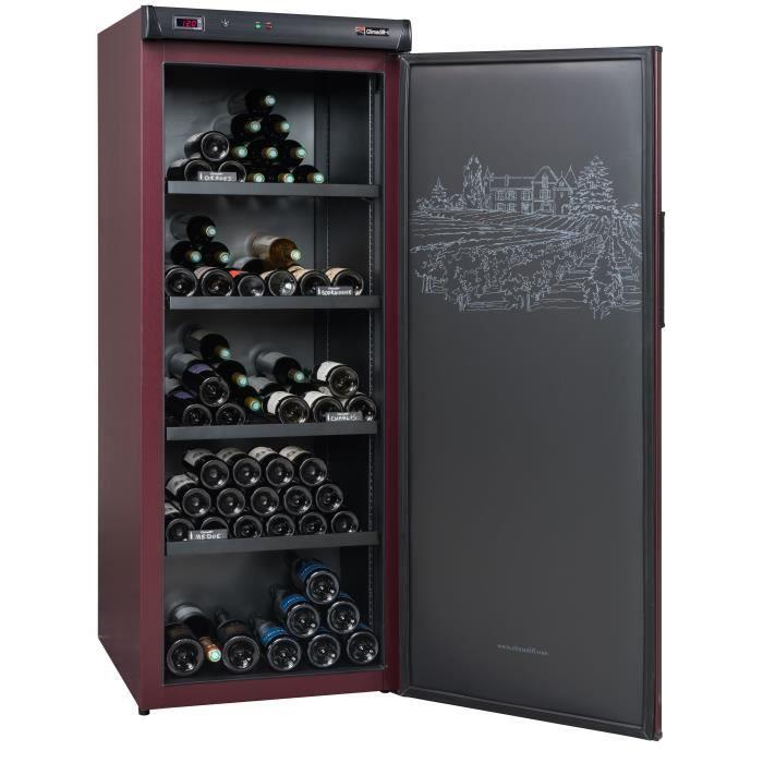 CLIMADIFF CVP220A+ - Cave à vin de vieillissement - 216 Bouteilles - Pose libre - Classe A+ - L 62 x H 162 cm