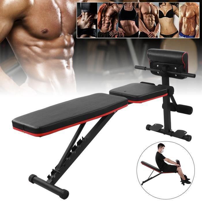 7 Banc abdominal à poids réglable LVL Banc d'haltères de fitness assis à la taille-FAS