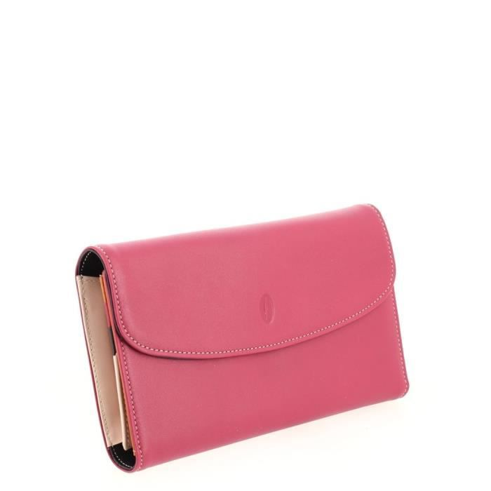 Compagnon Francinel s'aménageant d'un porte monnaie à 3 compartiments dont 1 zippée, 8 compartiments à cartes, 1 poche pour les
