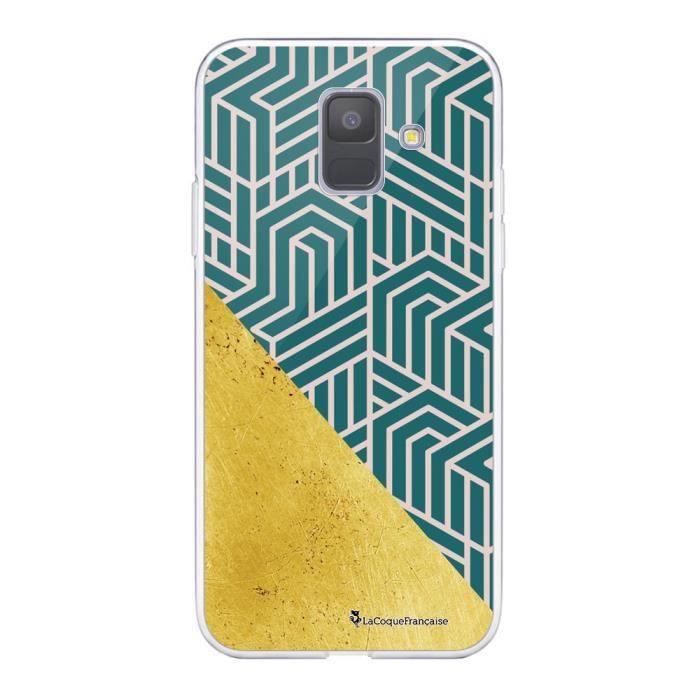 Coque Samsung Galaxy A6 2018 360 intégrale transparente Vintage or Ecriture Tendance Design La Coque Francaise