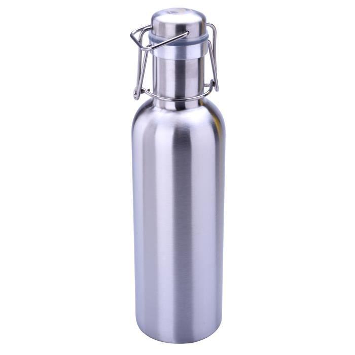 Bidon isotherme - Contenance 800 ml - acier inoxydable