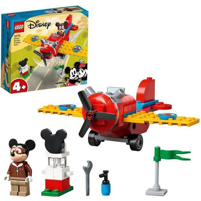 LEGO® 10772 Disney® L'avion à hélice de Mickey Mouse Jouet 4 ans et plus, Avion pour Enfants