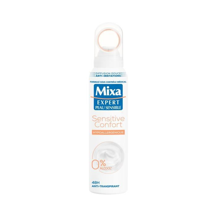 MIXA Déodorant Atomiseur Sensitive Confort Hypoallergenique - 150 ml