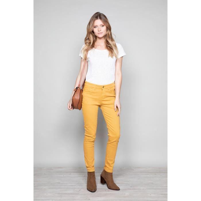 Pantalon slim 5 poches PIME - Couleur - Curry, Taille - 34