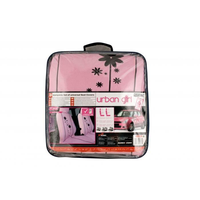 jeu de housses universelles rose - pink girl