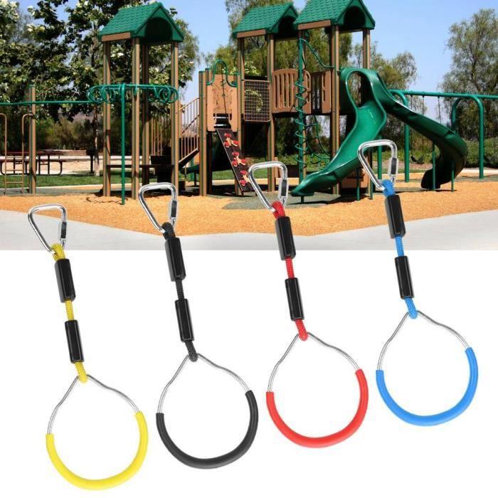 Sonew Anneau de gymnastique Swing coloré 4 PCS / Set Enfants Swing Coloré Gymnastique Anneau Enfant Escalade Sport Corde