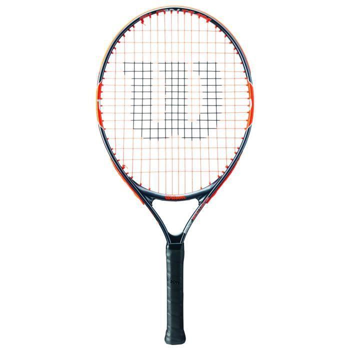 Wilson Raquette de Tennis pour Enfants, Burn Team 25, Taille 9-12 ans, Orange-Gris, WRT209800