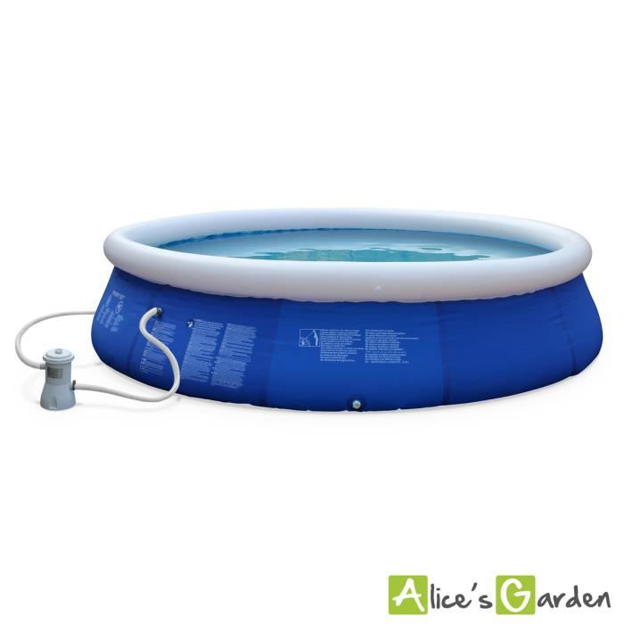 Jade piscine autoportante 420 bleue for Achat piscine autoportante