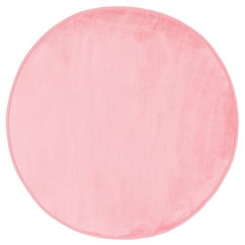 Tapis rond velours diam 90 cm rose clair achat for Tapis shaggy avec canape d angle black friday