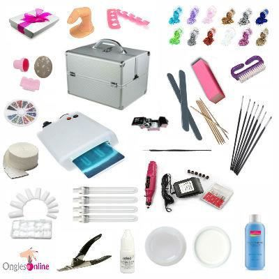 kit valise complet lampe manucure faux ongles gel achat vente lampe uv manucure soldes. Black Bedroom Furniture Sets. Home Design Ideas