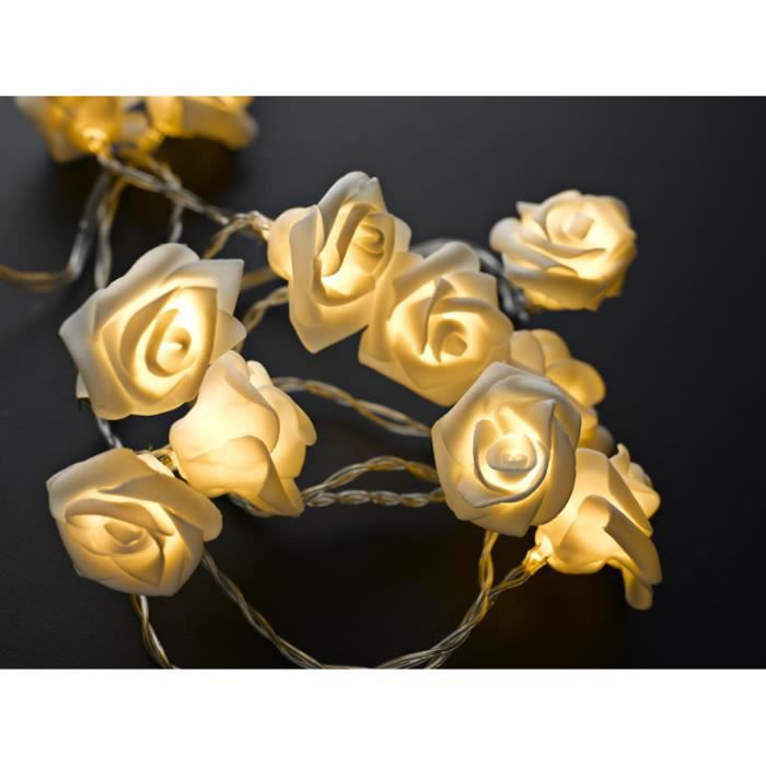 guirlande lumineuse led pile 12 roses achat vente. Black Bedroom Furniture Sets. Home Design Ideas