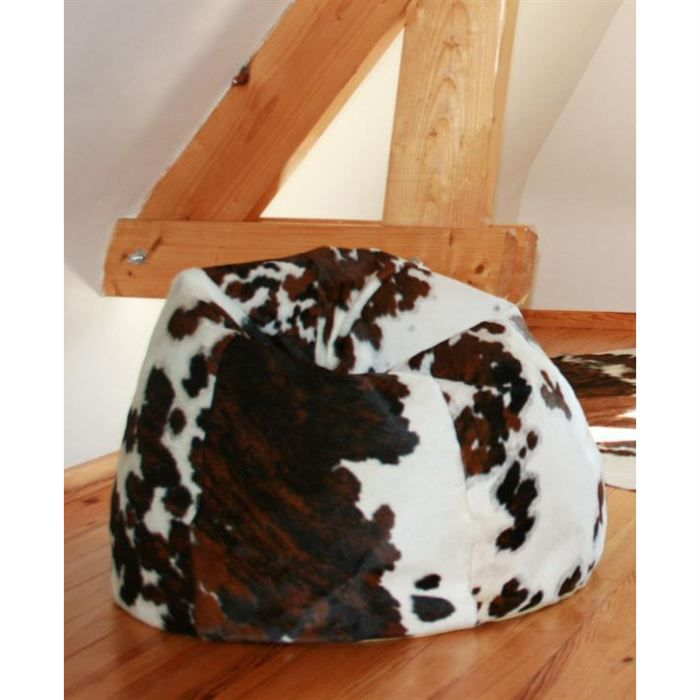 fauteuil pouf oscar en peau de vache normande achat. Black Bedroom Furniture Sets. Home Design Ideas