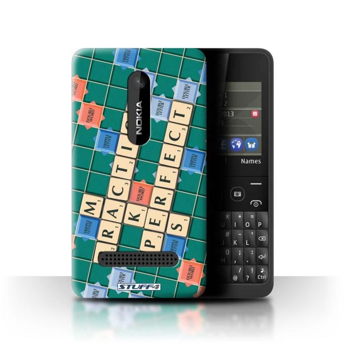 coque de stuff4 coque pour nokia asha 210 pratique parfaite design mots de scrabble. Black Bedroom Furniture Sets. Home Design Ideas