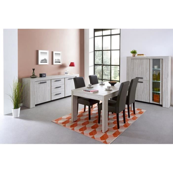 Salle manger compl te rabbi 1 table l 160 x p 92 x h for Salle a manger actuelle