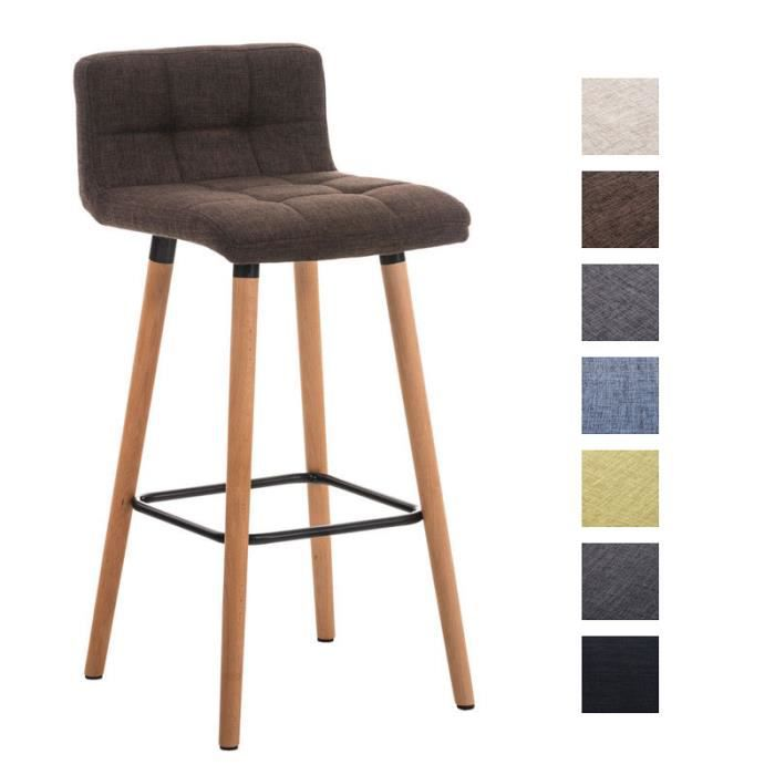 clp tabouret de bar lincoln rev tement en tissu pi tement en bois hauteur de l 39 assise 75 cm. Black Bedroom Furniture Sets. Home Design Ideas