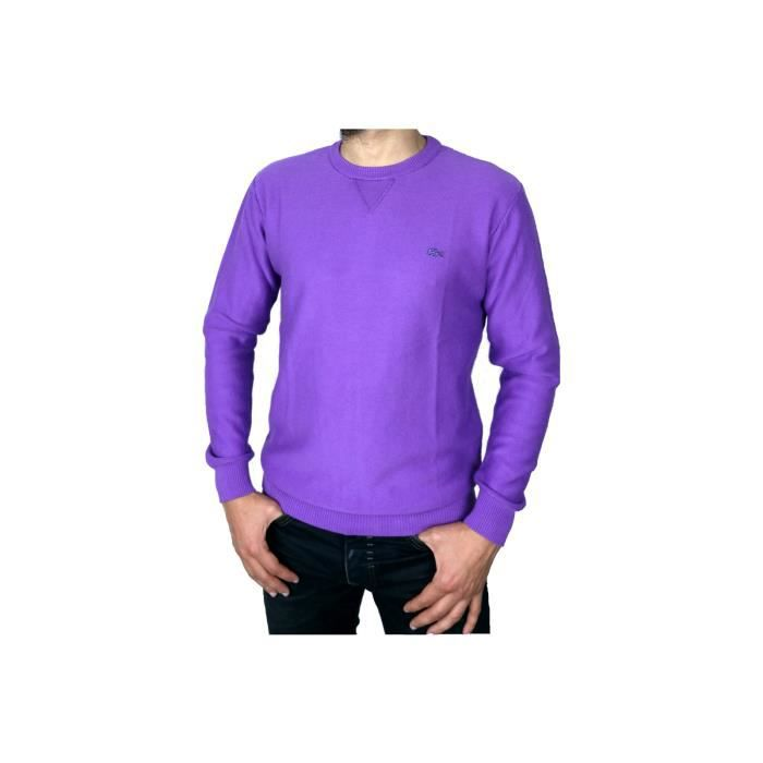 Violet Col Pull Rond Tanzanite Lacoste HwHtX