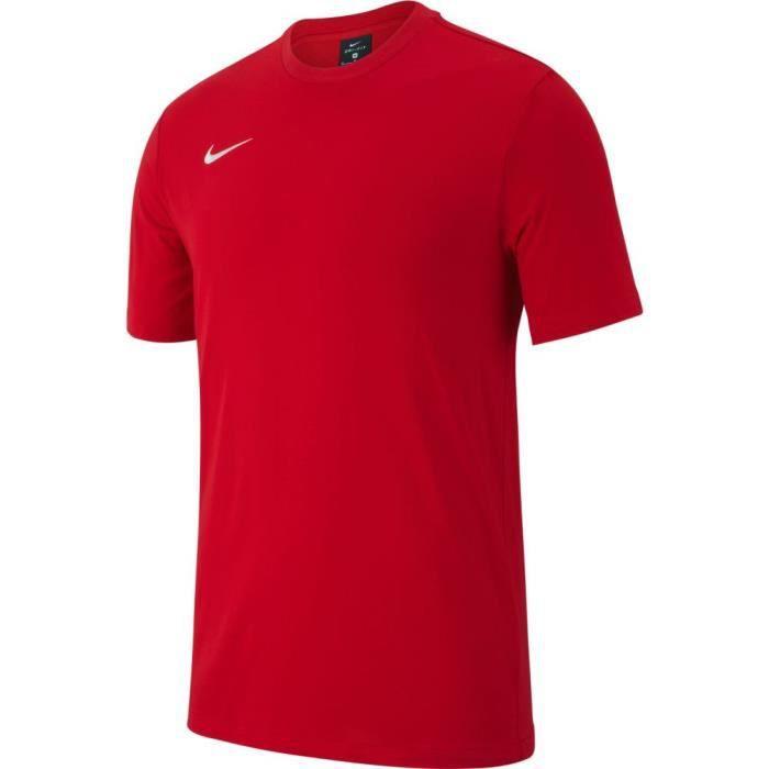 T-SHIRT MAILLOT DE SPORT T-Shirt Nike Team Club 19 Enfant Unisexe Rouge/bla