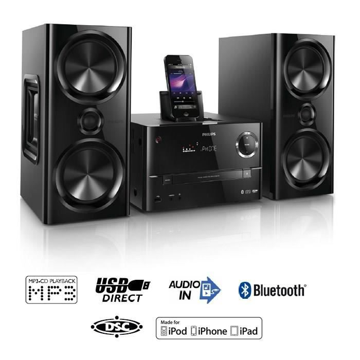 philips dtm3170 cha ne hifi station d 39 accueil bluetooth 150w achat vente chaine hi fi. Black Bedroom Furniture Sets. Home Design Ideas