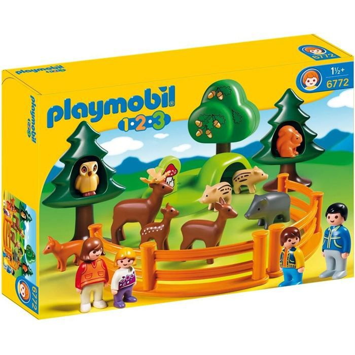 playmobil 6772 parc d 39 animaux et famille achat vente. Black Bedroom Furniture Sets. Home Design Ideas