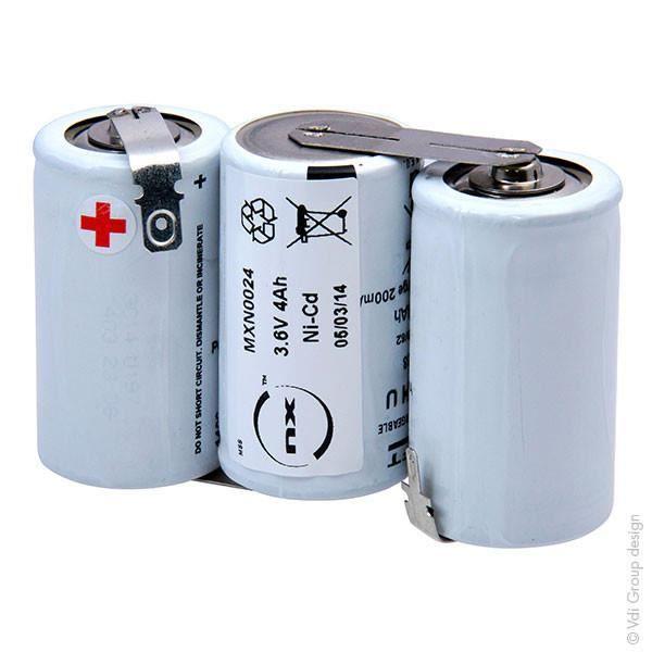 3.6 V 4Ah 3 cellules x D nickel cadmium Batterie Rechargeable Au Plomb Style 4
